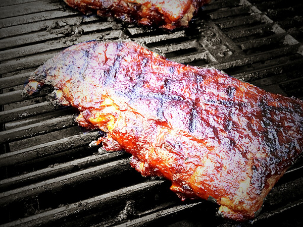 Spicy Whiskey Grilled Baby Back Ribs - The Gourmet Housewife