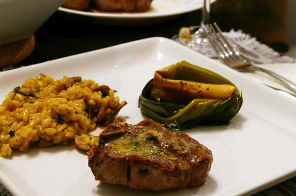 Lamb Chops with Lemon, Thyme & Mustard Butter - The Gourmet Housewife
