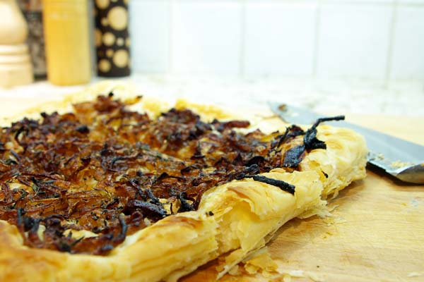 Balsamic Onion Thyme Tart - The Gourmet Housewife