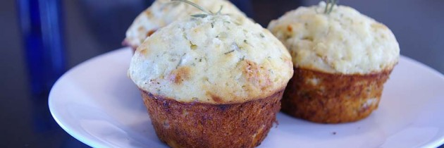 Roasted Garlic, Parmesan and Rosemary Muffins