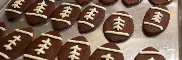 Chocolate Football Sugar Cookies – Super Bowl Treat