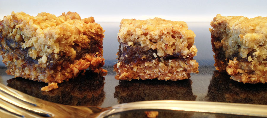 Date Squares - The Gourmet Housewife