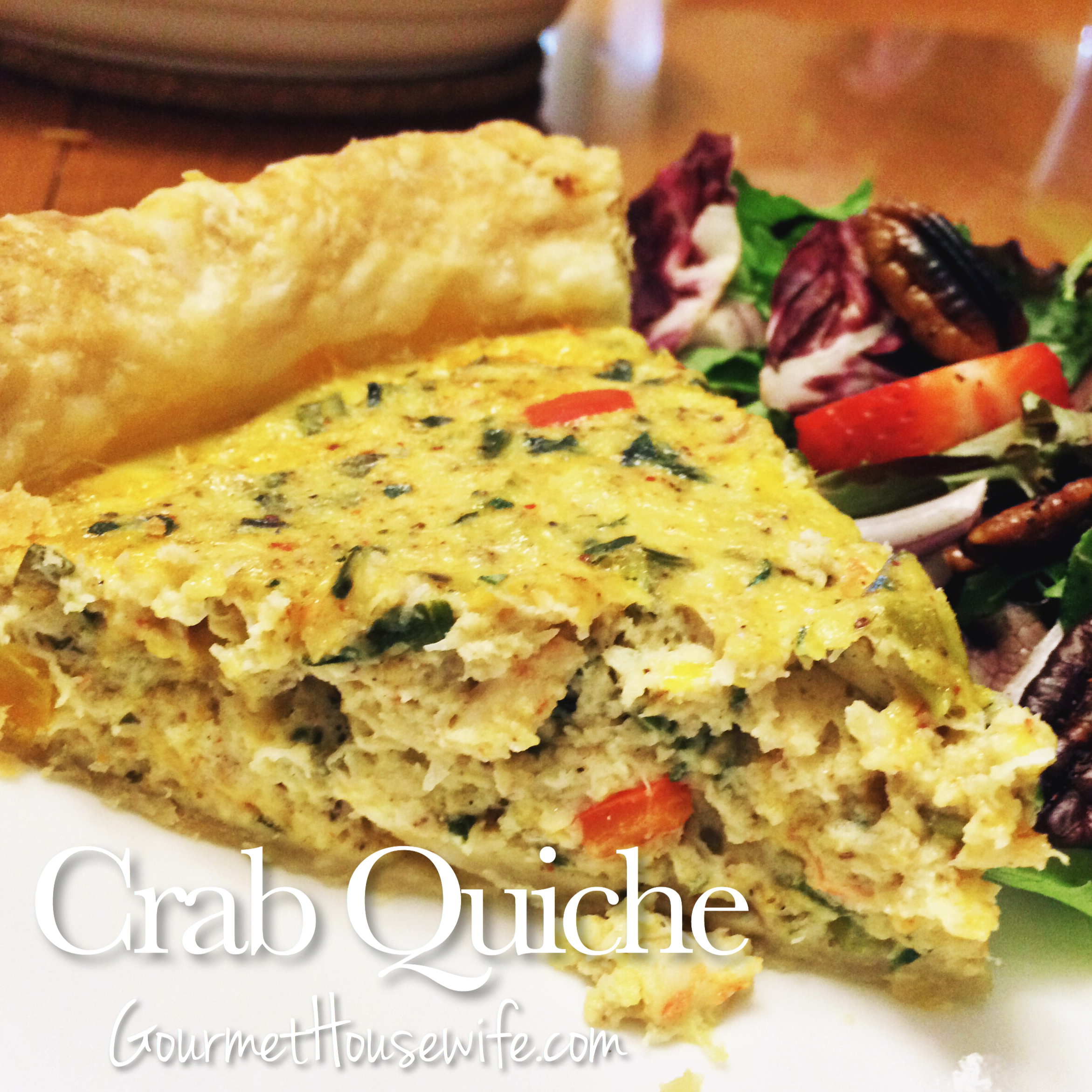 Crab quiche the gourmet housewife for Quiche not setting